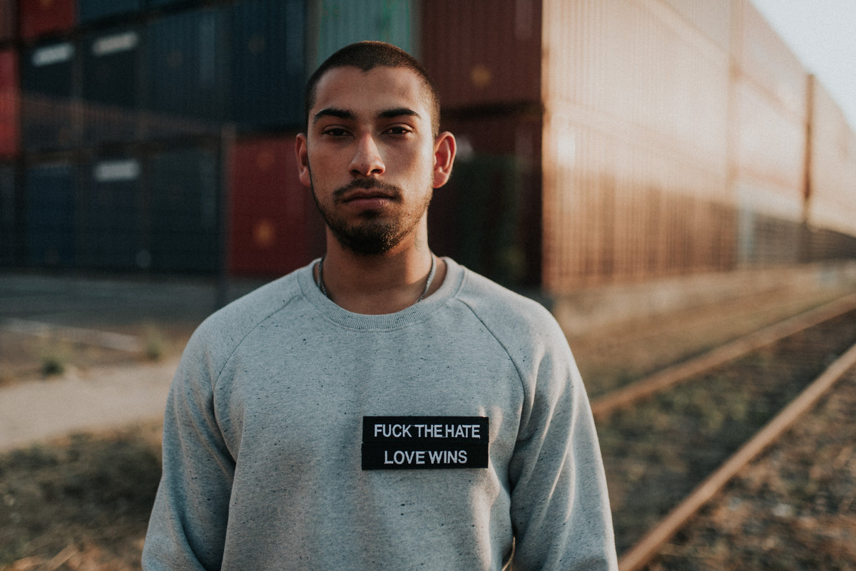 State of Mind Organic Light Grey Crewneck