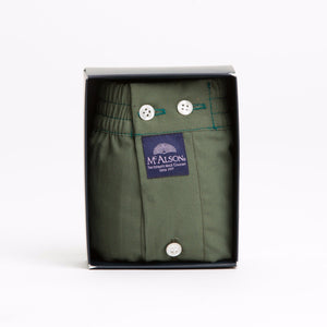 unicolor green boxer short
