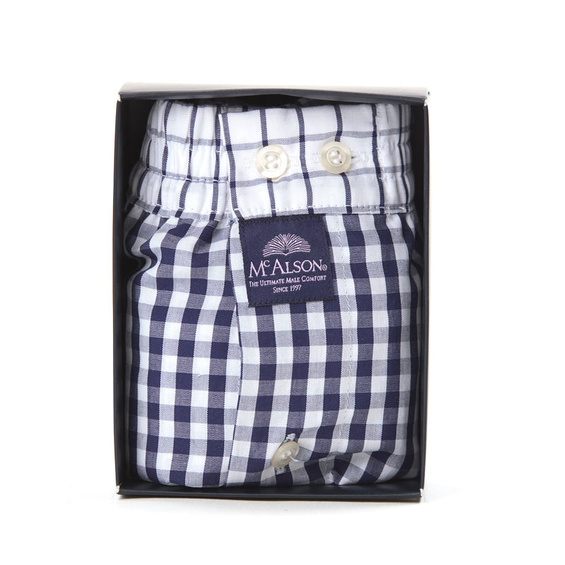 M0225 - Checkered navy blue