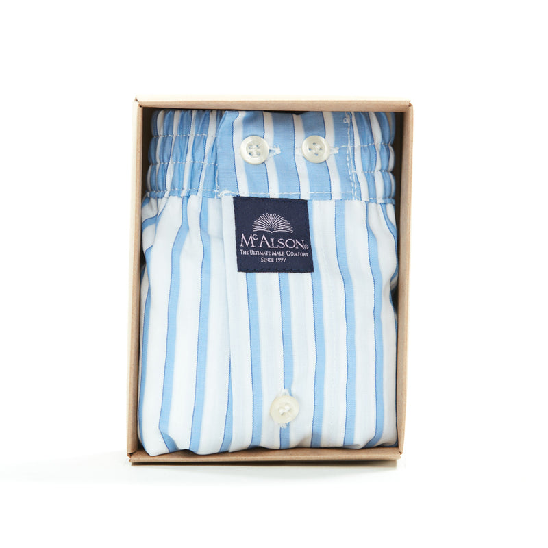 M1305 - Striped white & blue