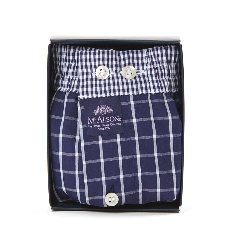 M0220 - Checkered navy blue