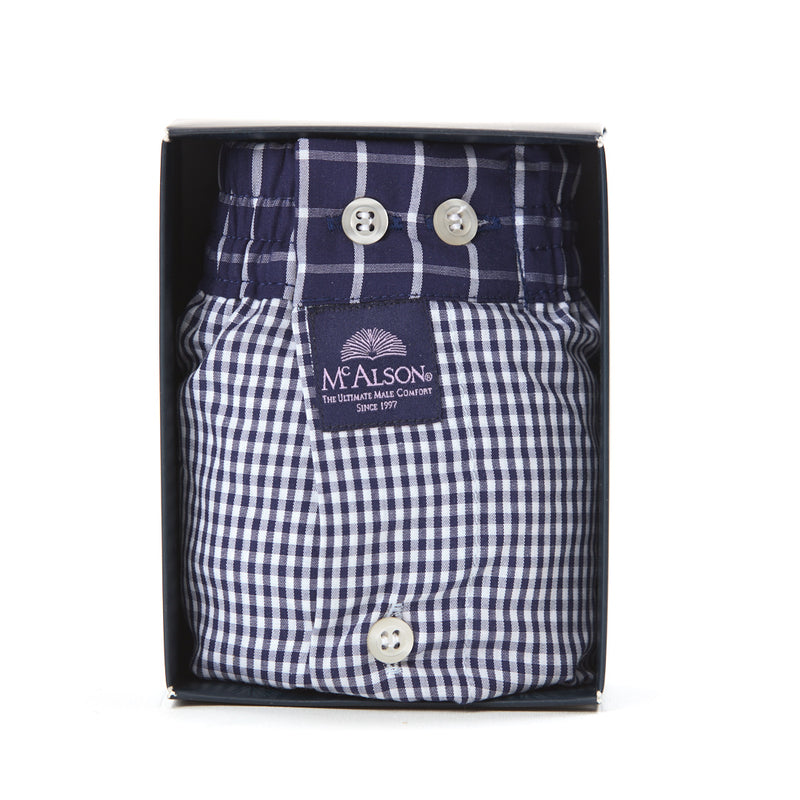 M0221 - Gingham navy blue
