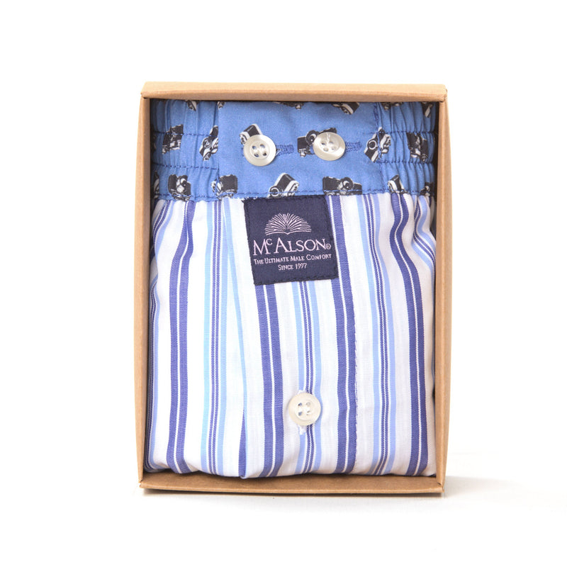 M4123 - Striped blue & white