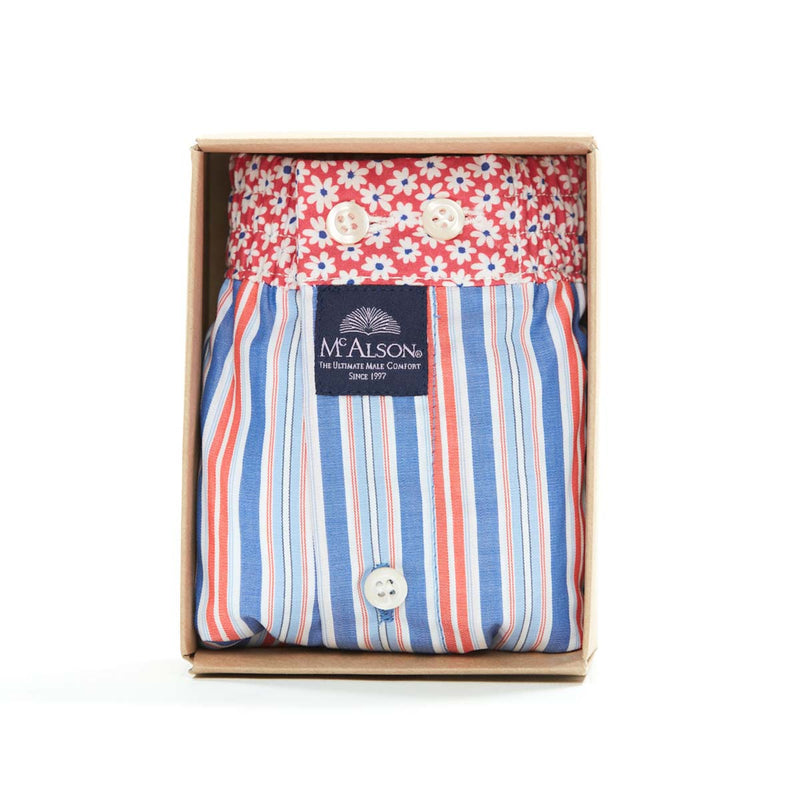 M4310 - Striped red & blue