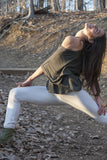 Womens Asana tights long in organic hemp