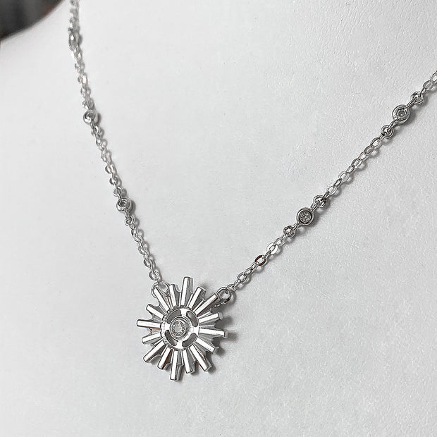 Your Heavenly Light Halo by HALOTOPIA Pendant Necklace with Deluxe Sparkling White Sapphire Chain