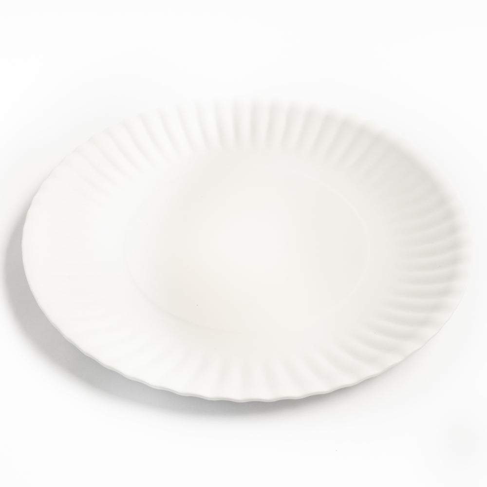 Set of 4 White Melamine Plates