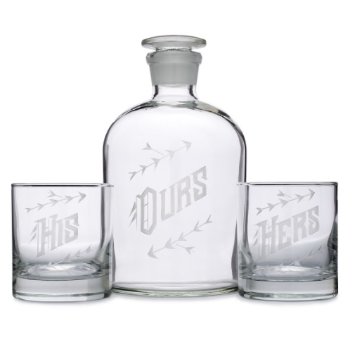 His, Hers + Ours Decanter + Glasses