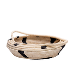Black Spotted Handwoven Basket