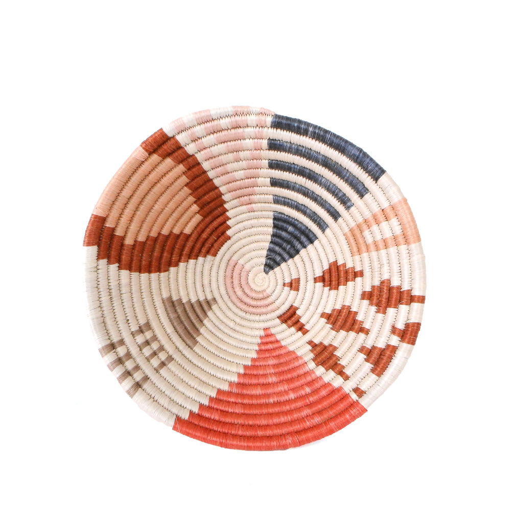 Medium Coral Cheza Handwoven Basket