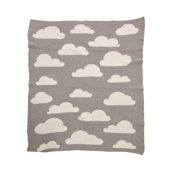 Clouds Mini Recycled Cotton Throw