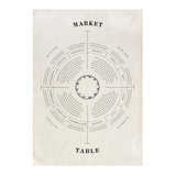 Market Table Tea Towel