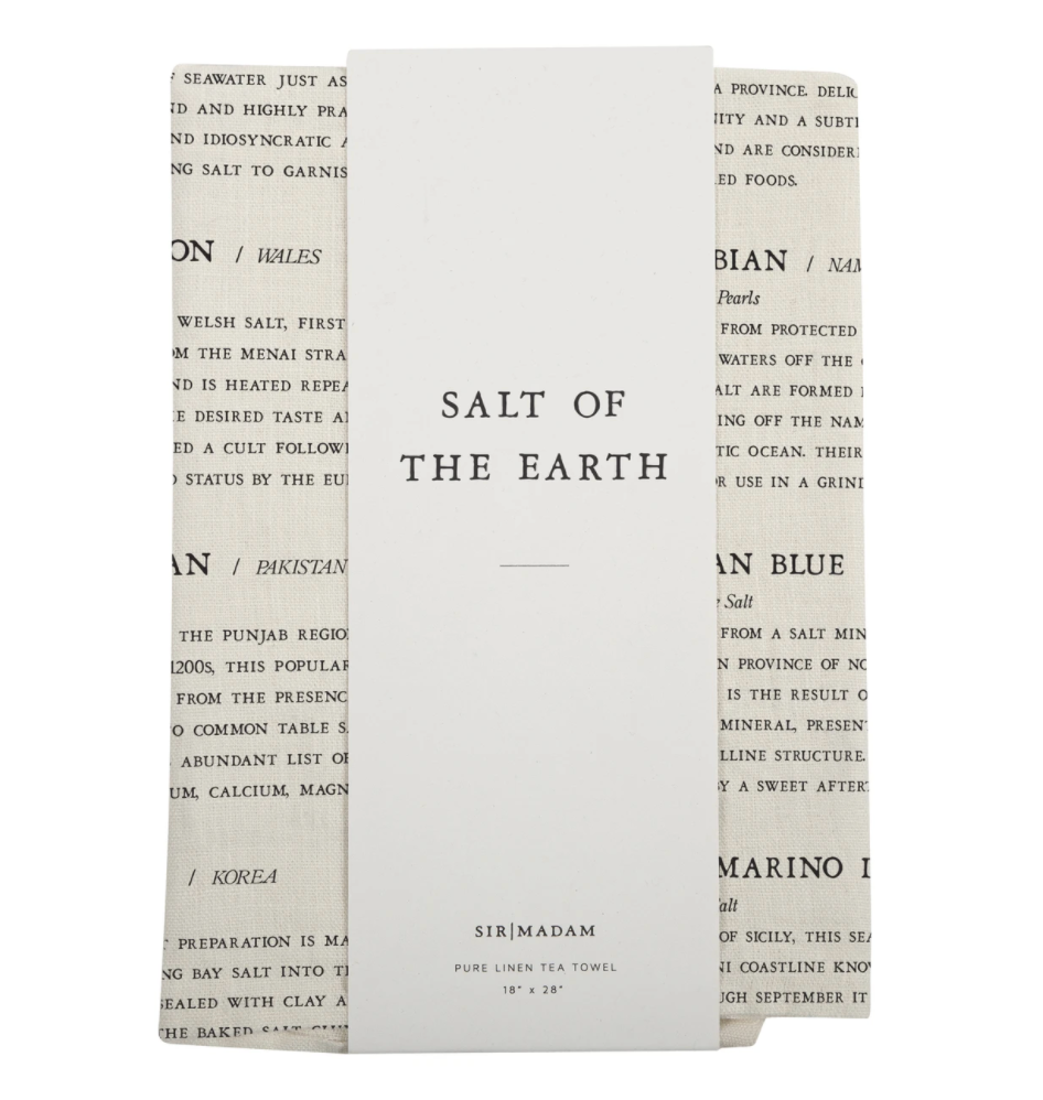 Salt of the Earth Tea Towel