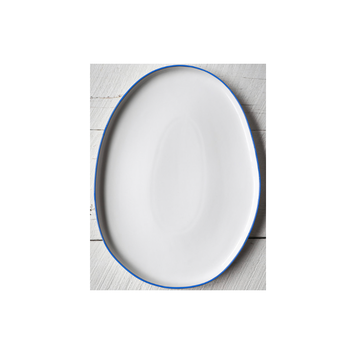 Abbesses Blue Rim Platter