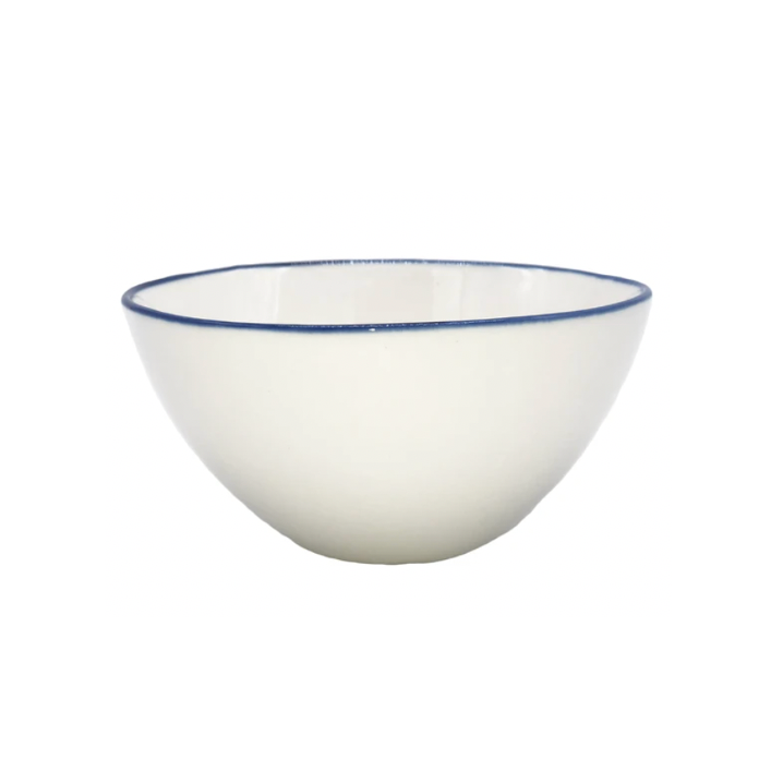 Abbesses Blue Rim Large Serving Bowl