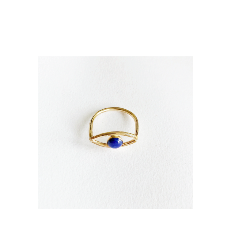 Evil Eye Ring Lapis