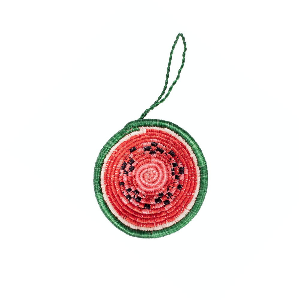 Watermelon Basket Ornament