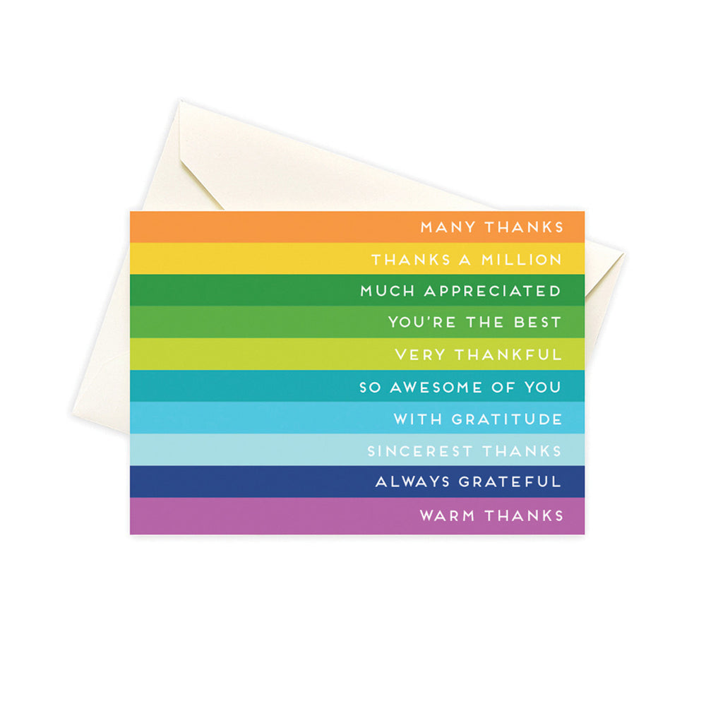 Striped Thank You Card Set