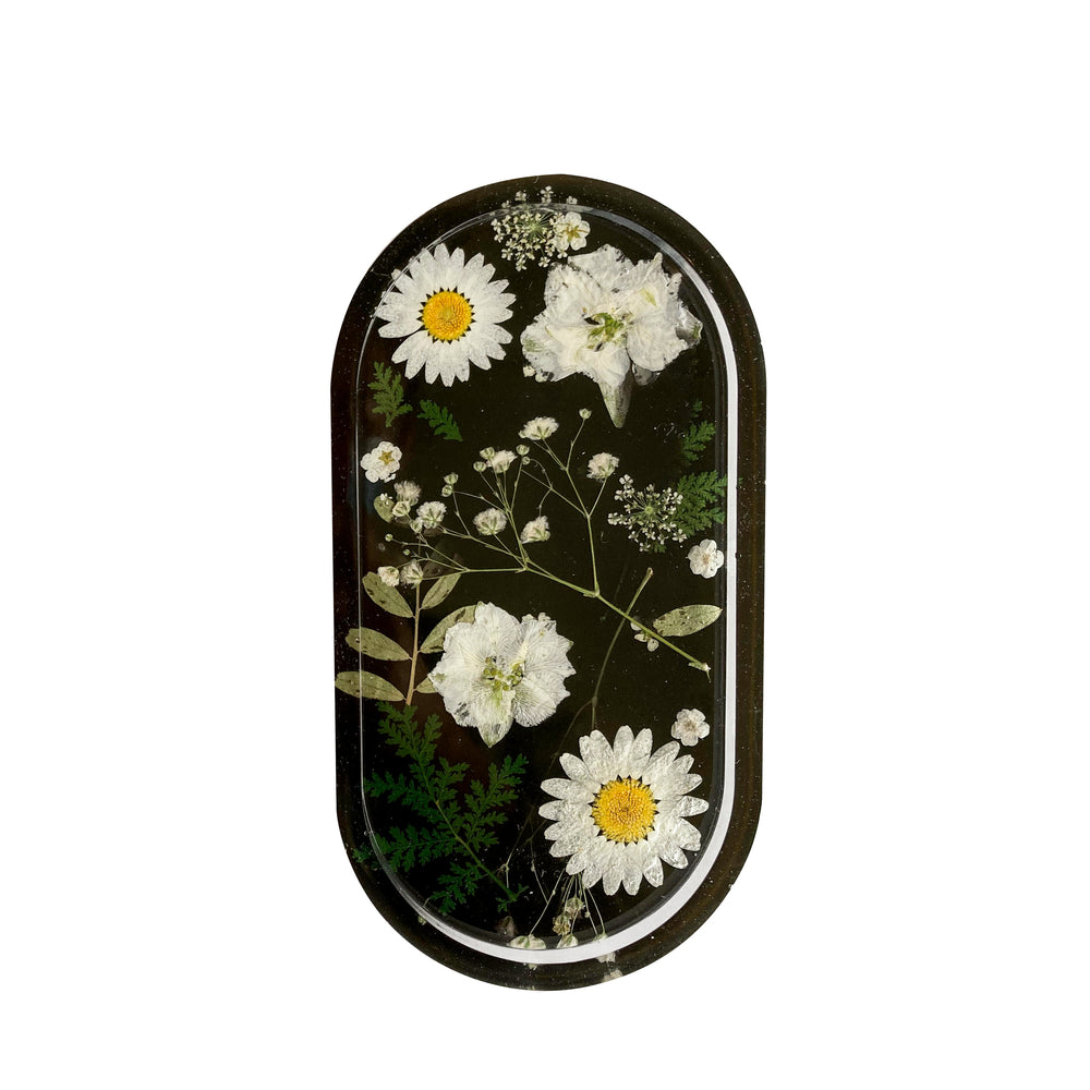 Midnight Daisy Tray
