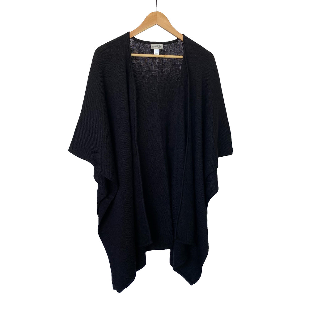 Black Ruana Knit Wrap