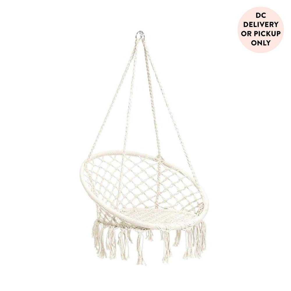 White Hanging Swing Chair