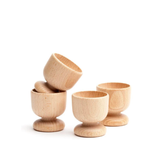 Set of 4 Wooden Egg Cups