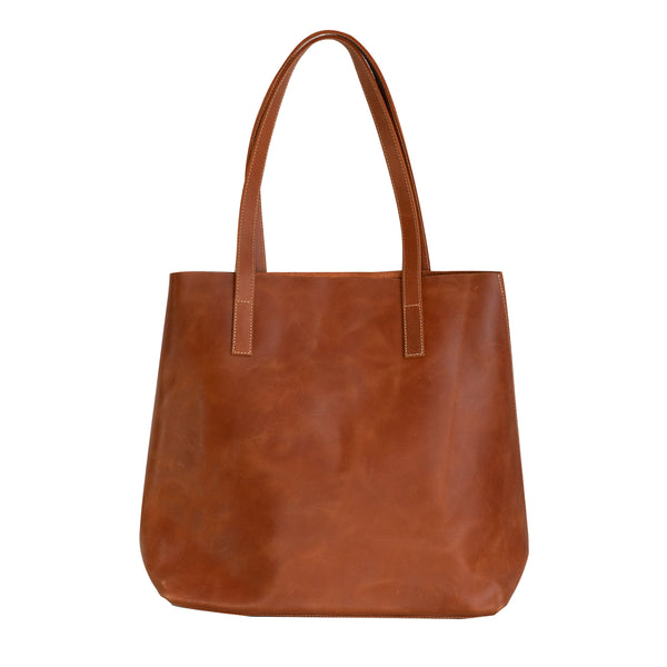 Everyday Leather Tote in Amaretto