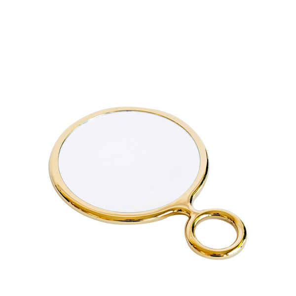 Gold Handheld Mirror