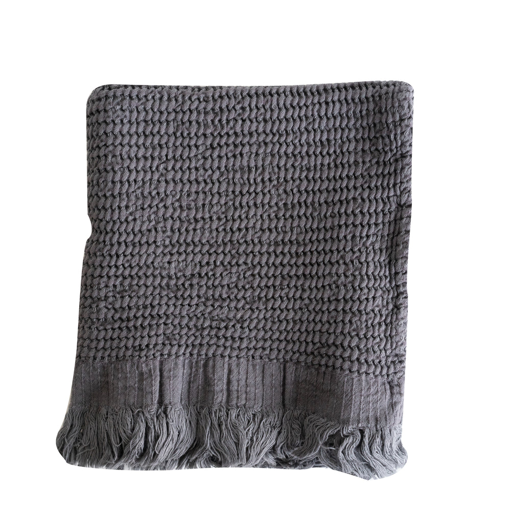 Anthracite Waffle Towel