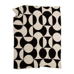Black Puzzle Recycled Cotton Throw