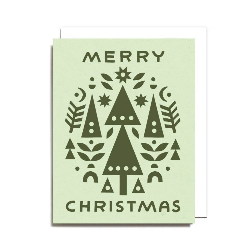 Set of 6 Merry Christmas Card