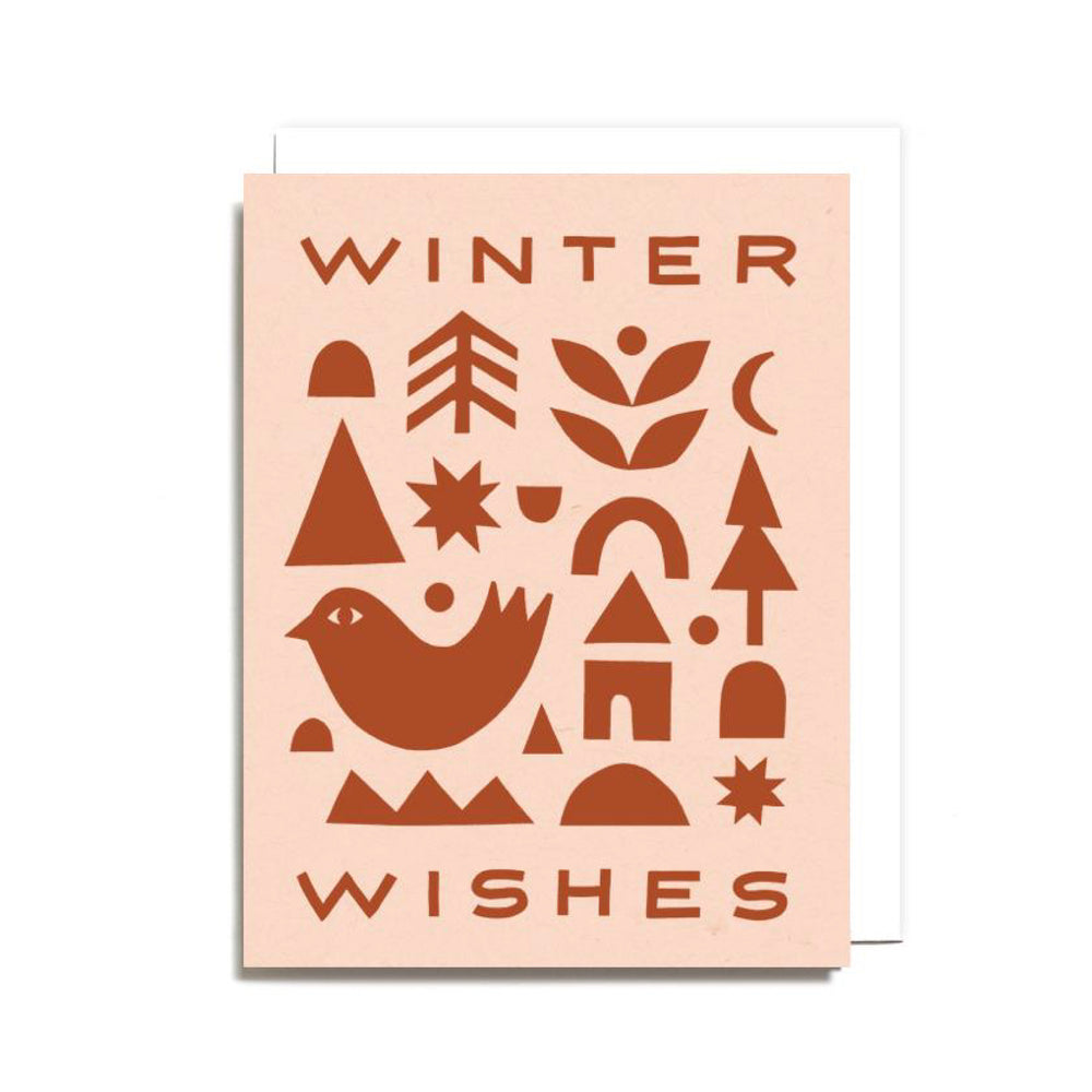 Set of 6 Winter Wishes Card