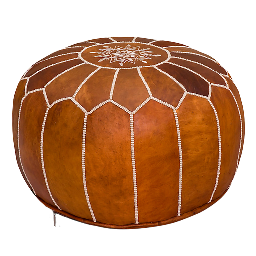 Outstanding Moroccan Leather Pouf Theyellowbook Wood Chair Design Ideas Theyellowbookinfo