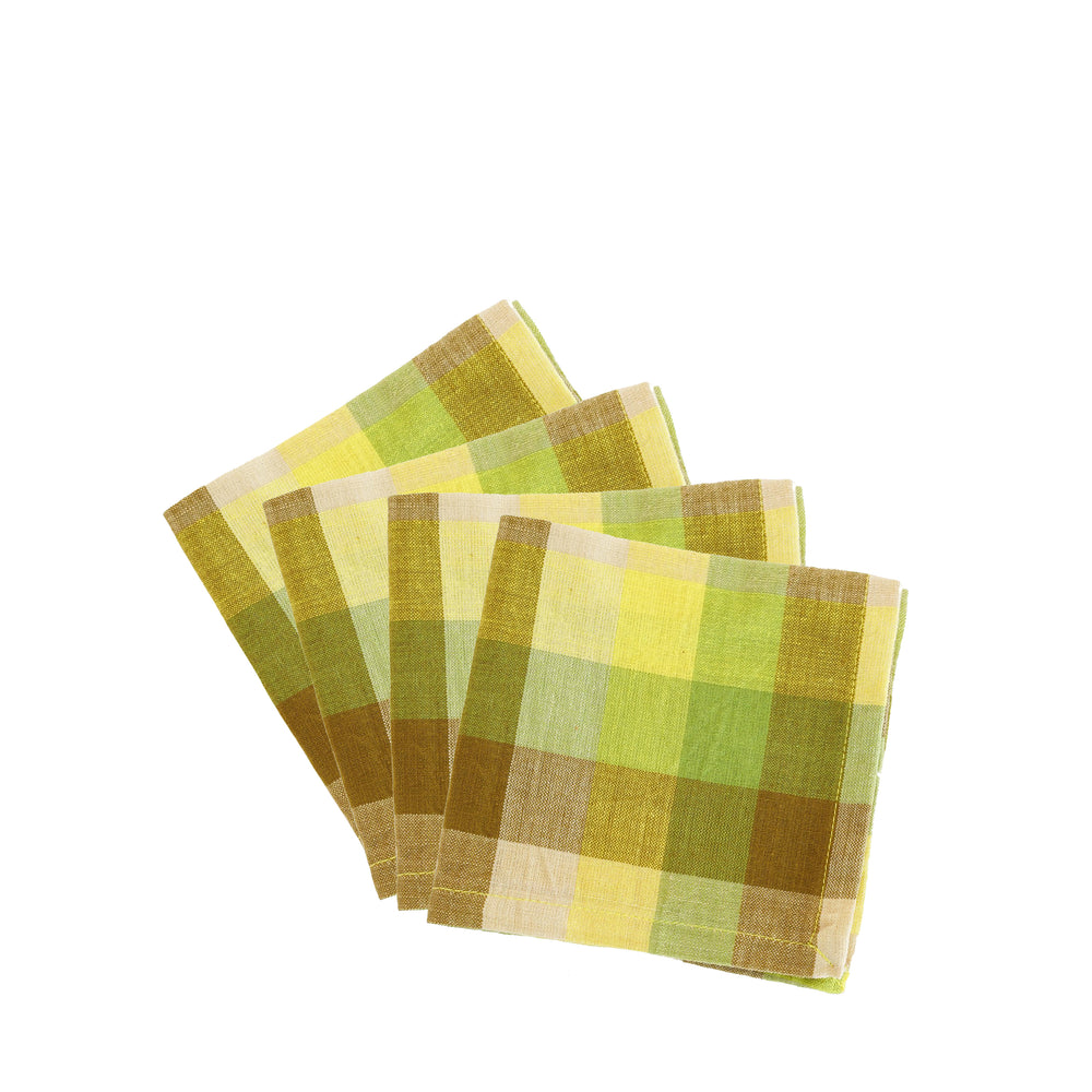Set of 4 Checkered Napkins
