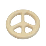 Wooden Peace Sign Teether