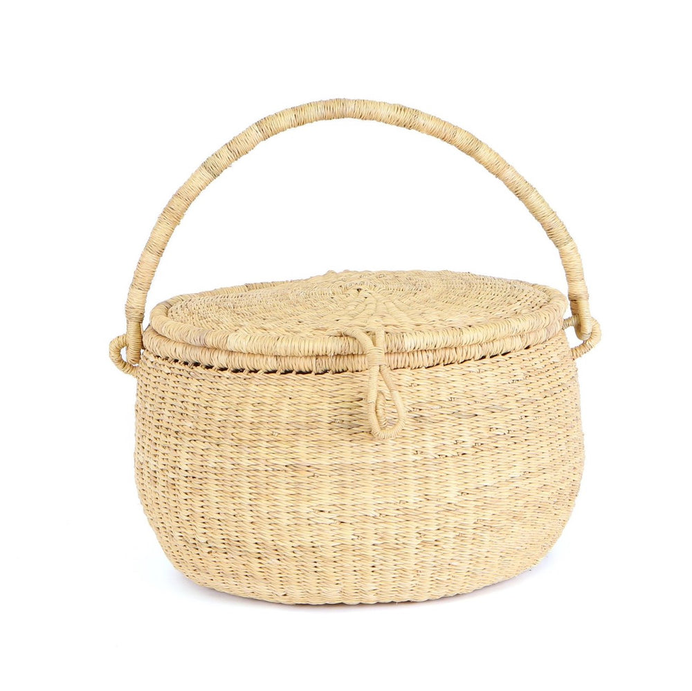 Natural Handwoven Picnic Basket