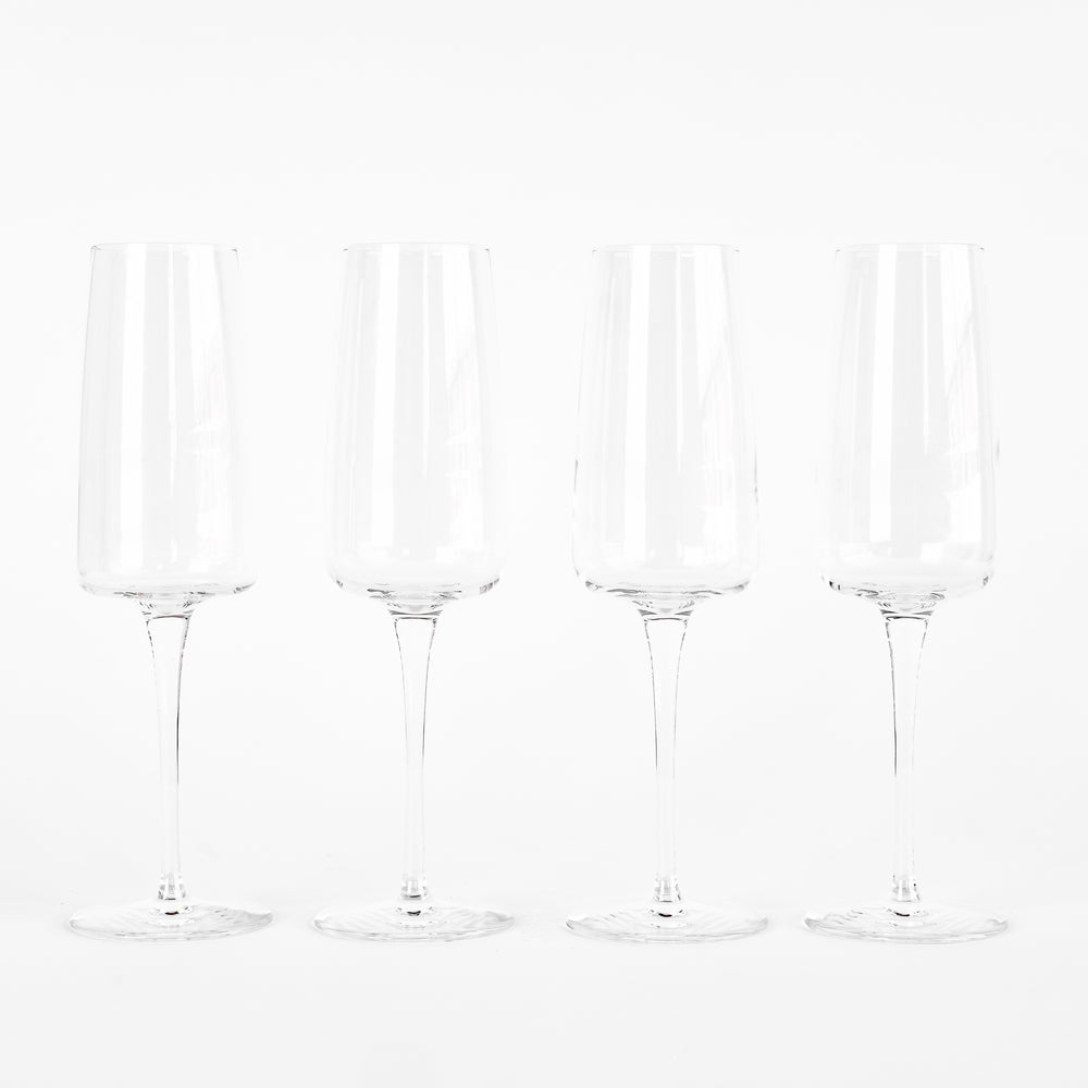 Set of 4 Planeo Champagne Glasses