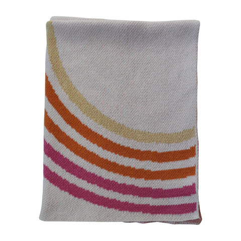 Bubble Gum Mini Recycled Cotton Throw