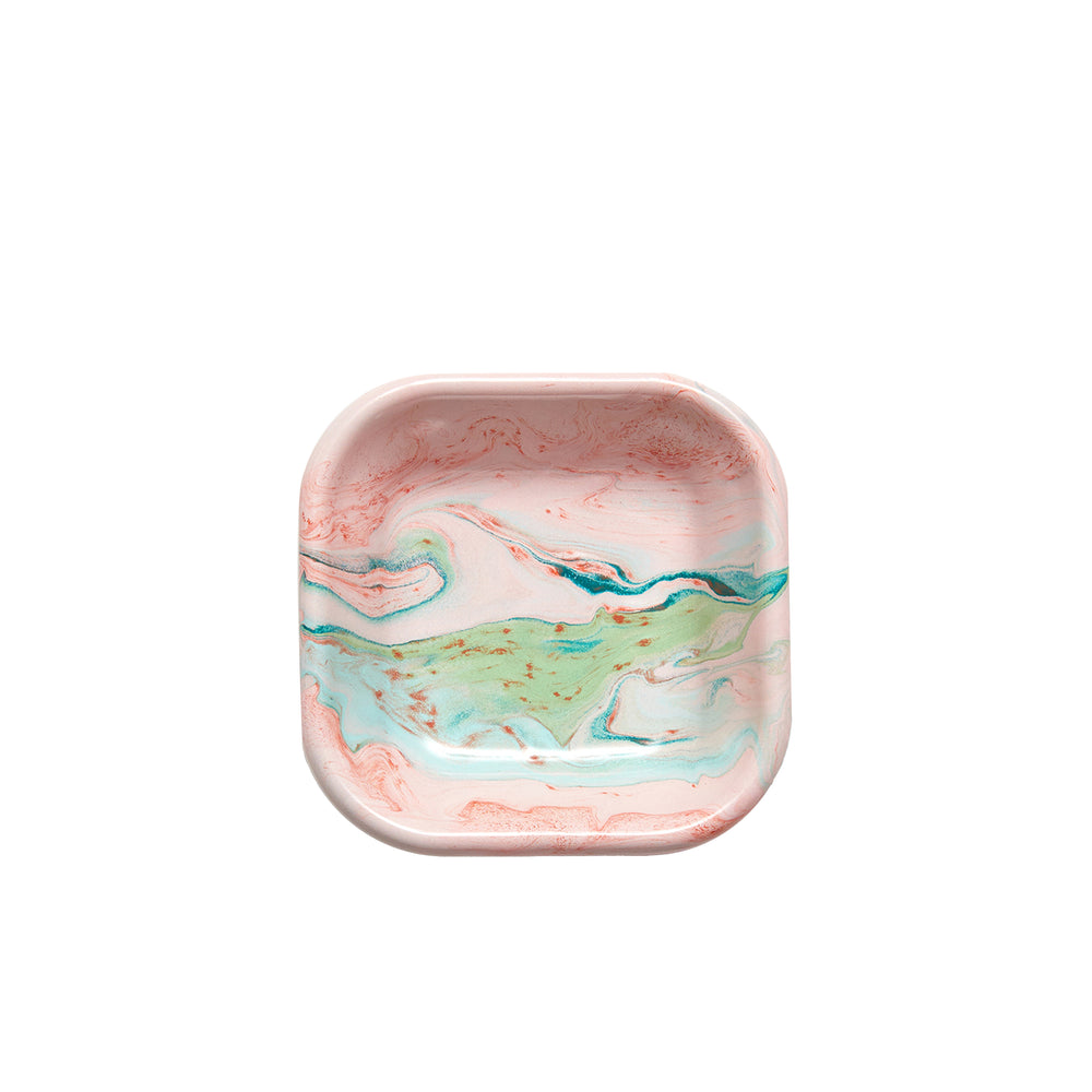 Blush Swirl Square Dish