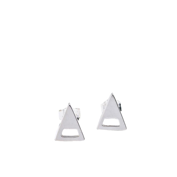 Silver Mini Triangle Studs