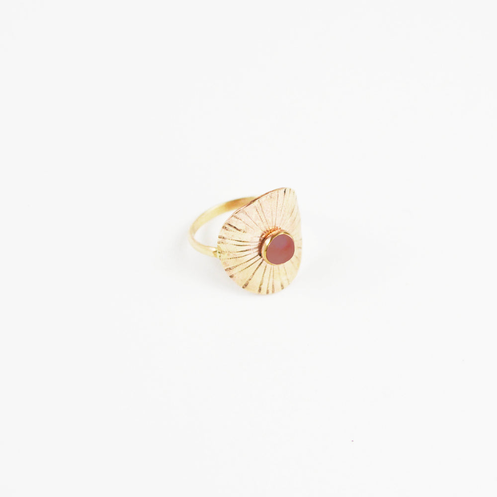 Sunbeam Ring Carnelian