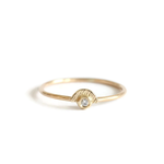 14k Gold Sunshine Diamond Ring