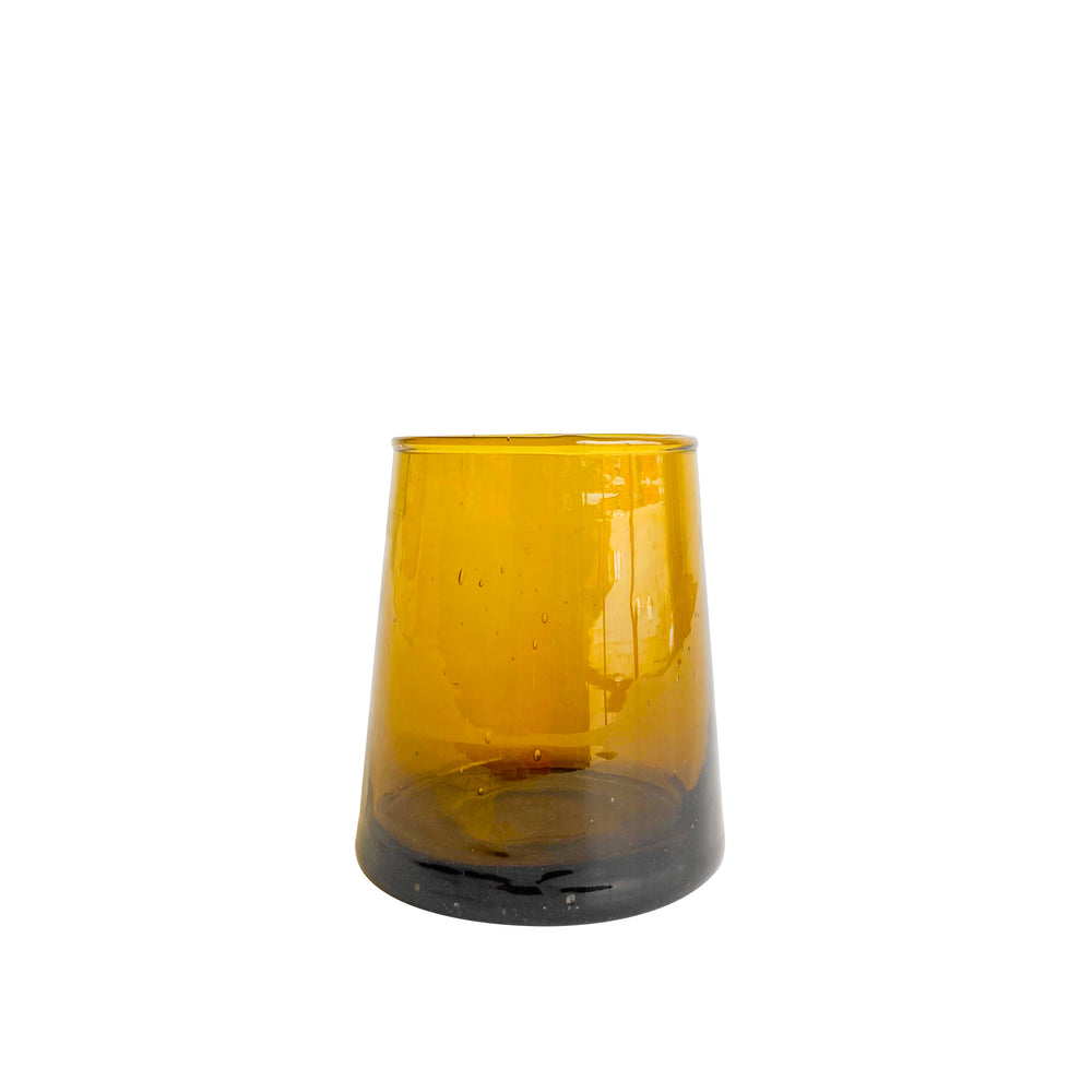 Amber Moroccan Glass, Set of 6