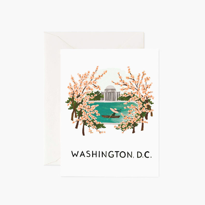 Washington, DC Cherry Blossom Card