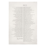 Wine List Kitchen Towel