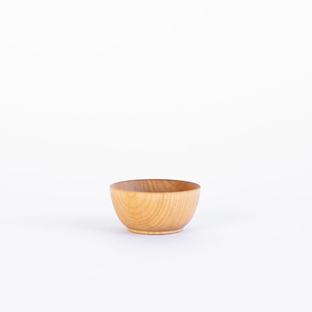 Set of 4 Wood Condiment Cups