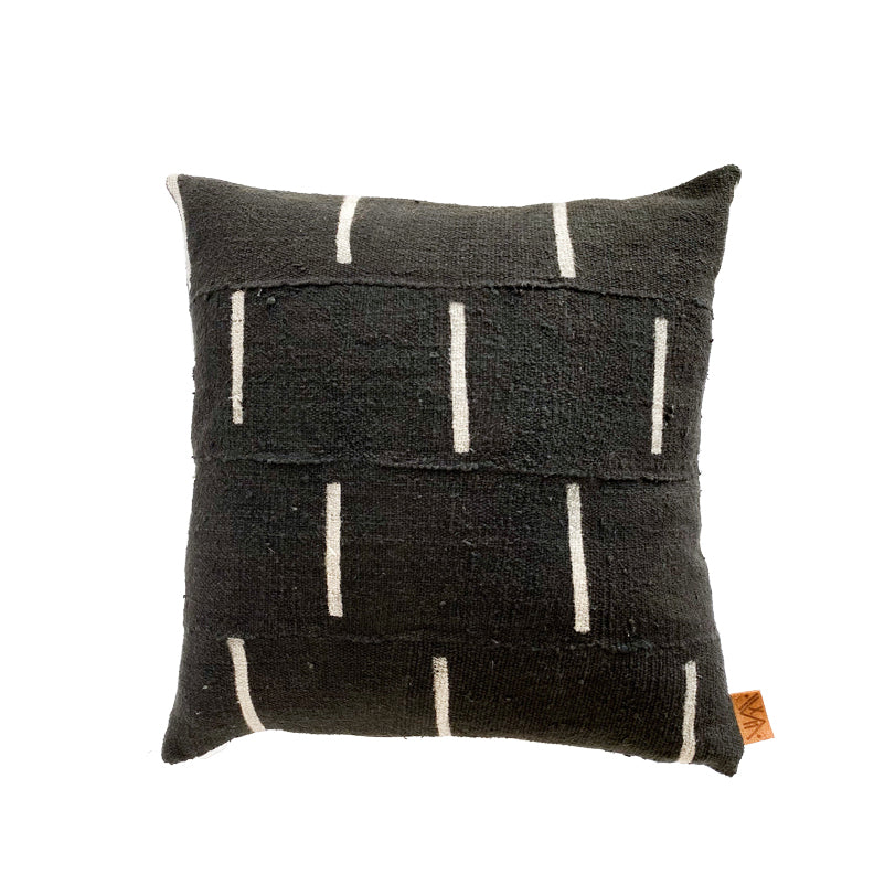xN Studio Black Dash Mudcloth Pillow