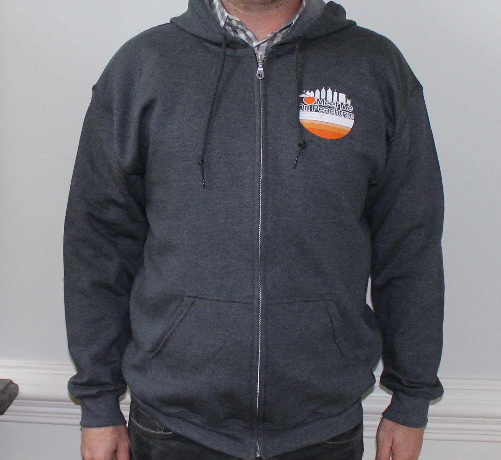 Limited Edition Dark Heather Skyline Full Zip Unisex Hoodie