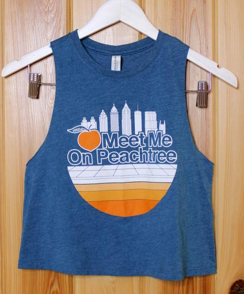 Skyline Cropped Sleeveless Tank