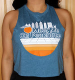 Skyline Ladies Cropped Sleeveless Tank
